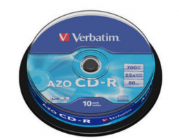 CD-R Verbatim 700mb / 10ks